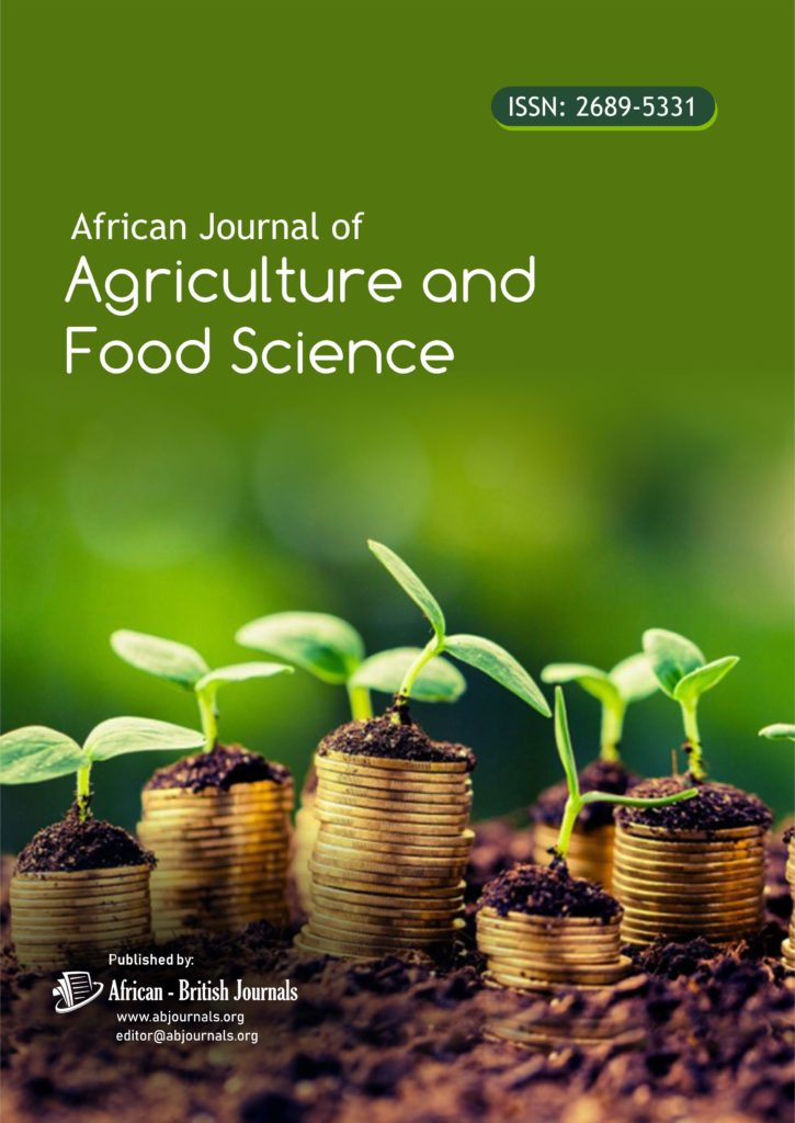 African Journal Of Agriculture And Food Science Issn 2689 5331