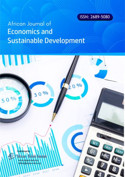 African Journal of Economics and Sustainable Development (ISSN: 2689-5080)