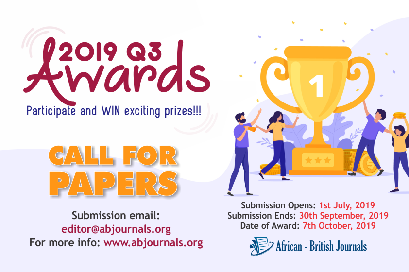 2019 Q3 Best Review Paper Award