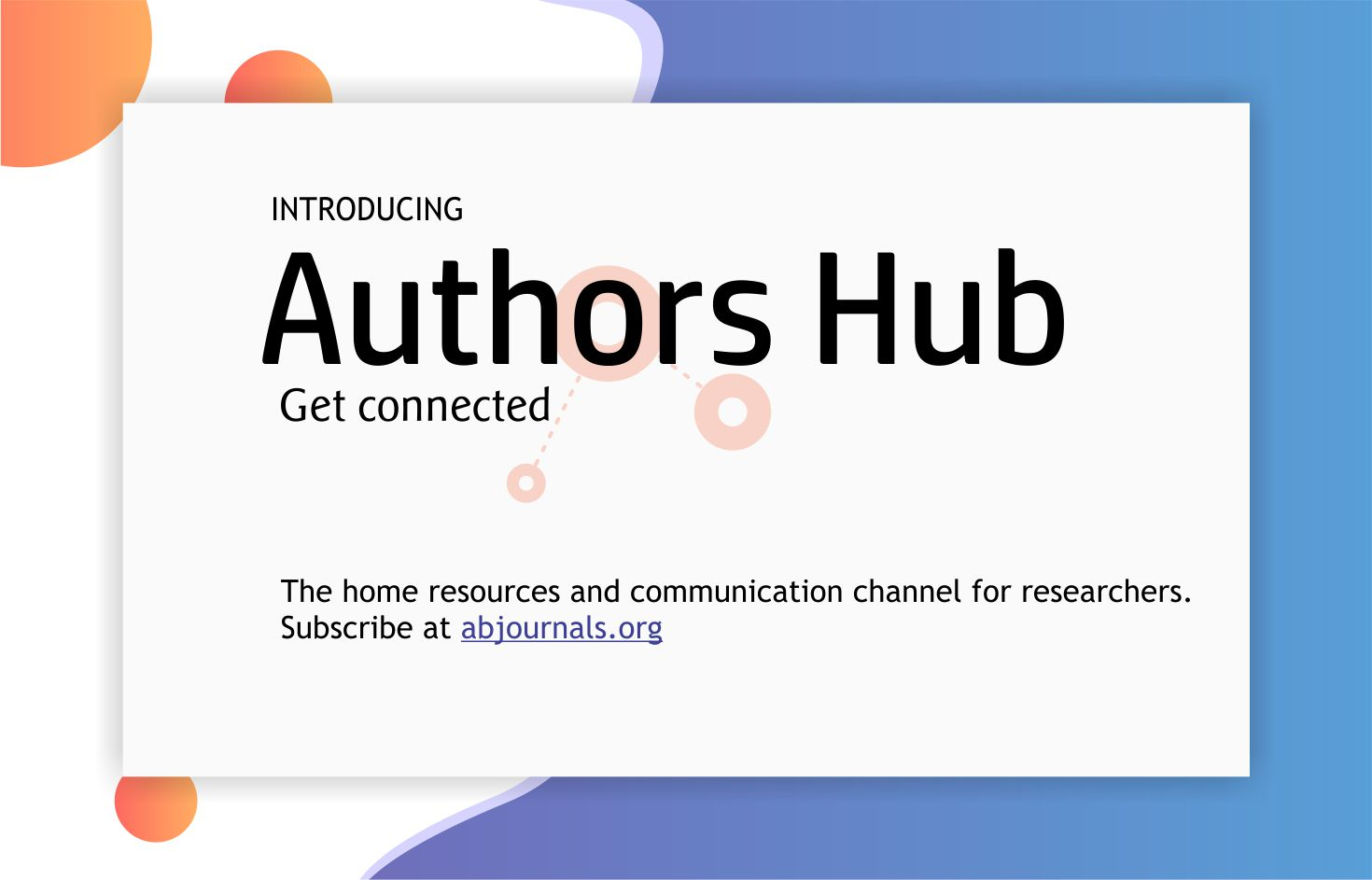Introducing Authors Hub